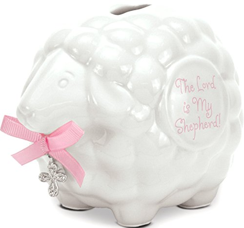 Brownlow Kitchen Lamb Bank with Scripture, Baby Girl - 1