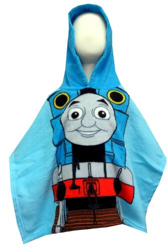 Thomas The Tank Engine Toddler Hooded Snugglie Poncho Robe For Boys (One Size) back-811232