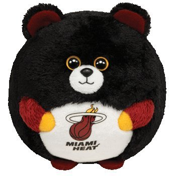 Imagen de Ty Beanie Ballz NBA Plush Doll - Miami Heat Oso