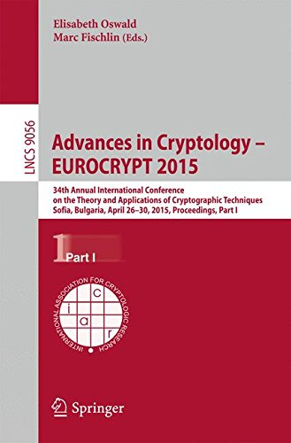 Advances in Cryptology -- EUROCRYPT 2015: 34th Annual International Conference on the Theory and Applications of Cryptog