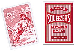 Cards Squeezers Bulldog Poker size Red
