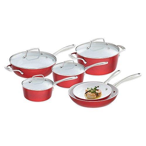 Bialetti Aeternum Revolution 10-Piece Ceramic Cookware Set (Bialetti Aeternum 10 Piece compare prices)