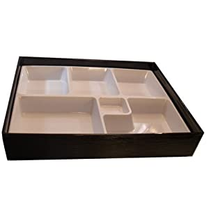 white lacquer bento lunch box white inner tray no lid kitchen dining. Black Bedroom Furniture Sets. Home Design Ideas