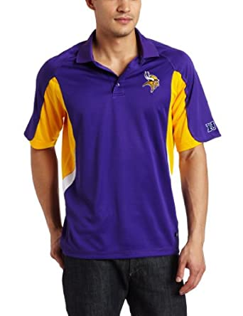 NFL Mens Minnesota Vikings Field Classic IV Short Sleeve Synthetic Polo by NFL
