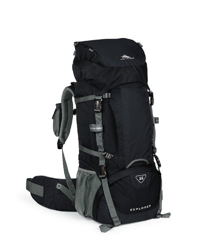 High Sierra Classic Series 59601 Long Trail 55 Internal Frame Pack Black 36X15.25X11 Inches 5500 Cubic Inches 55 Liters front-164992