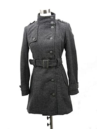 Women's Double-breasted Wool Coat with Belt Medium