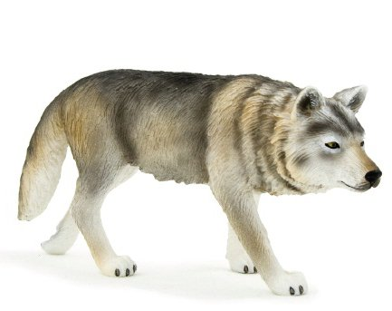 Mojo Fun 387026 Timber Wolf Walking - Realistic Forest / Countryside Wildlife Toy Replica