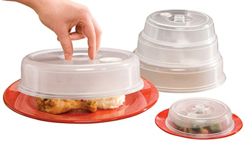 WalterDrake Vented Microwave Plate Covers - Set of 5 (Microwave Vented Cover compare prices)