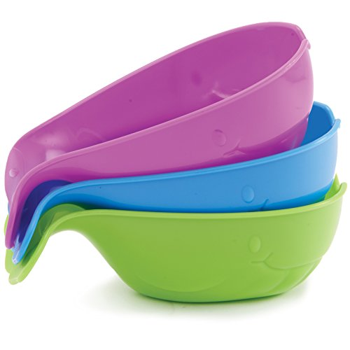 Munchkin Pour and Strain Whales Bath Toy, 3 Pack - 1