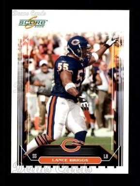 2006 Score # 288 Lance Briggs Chicago Bears (Football Card) Dean's Cards 8 - NM/MT