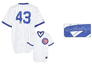 Dennis Eckersley Chicago Cubs Autographed White Pinstripe Cooperstown Collection... by Sports Memorabilia