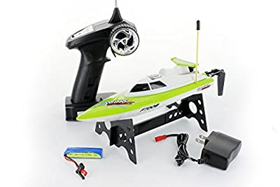 FT008 4-Channel 27mhz High Speed Racing RC Boat GREEN