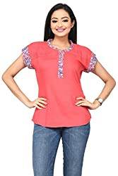 Rene Women's Rayon Pink Top