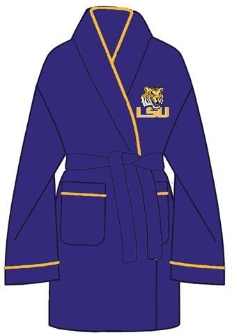 LSU Tigers Louisiana State Women's Plush Bathroom Robe at Amazon.com