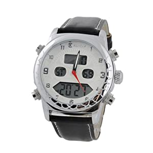 KONTAS C031 Unisex Round Dual-movement Watch (White)
