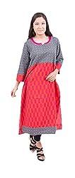 Krivi By Kk Women's Cotton Kurti (KRV-26-B_Red_M)