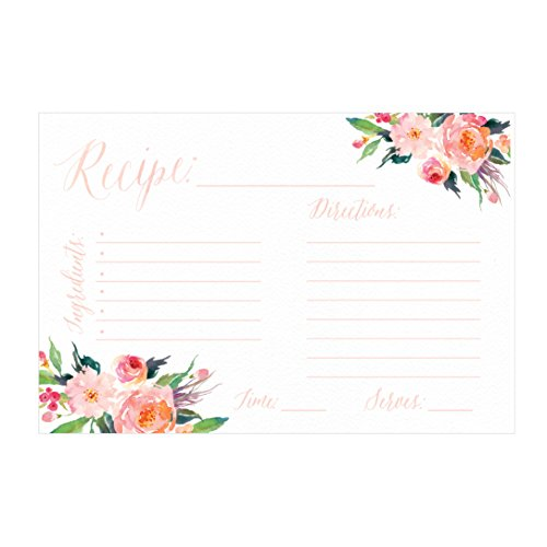 4x6 Recipe Cards, (Set of 50) Recipe Cards, Blank Recipe Cards, Recipe Cards for Bridal Shower, Thick Recipe Card, Recipe Note Cards (Recipe Cards 100 compare prices)