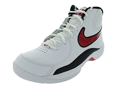 Nike Men's NIKE THE OVERPLAY VII BASKETBALL SHOES 8 (WHITE/SPORT RED/BLACK)