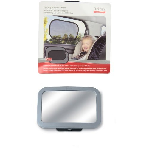 Britax Ez-Cling Sun Shades And Back Seat Mirror Bundle front-637314