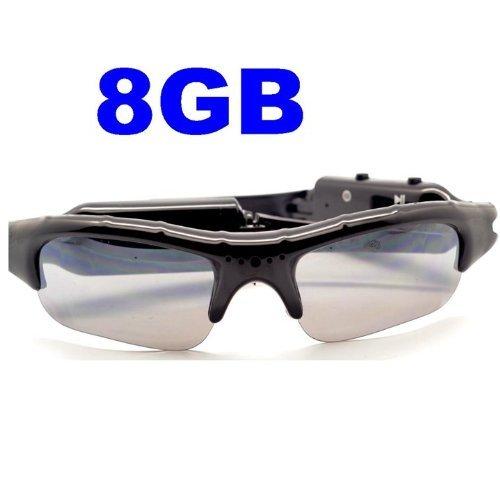 Limtech® 8Gb Tf Card + 720P Sunglasses Mp3 Player Dvr Mini Camera Camcorder Video Recorder