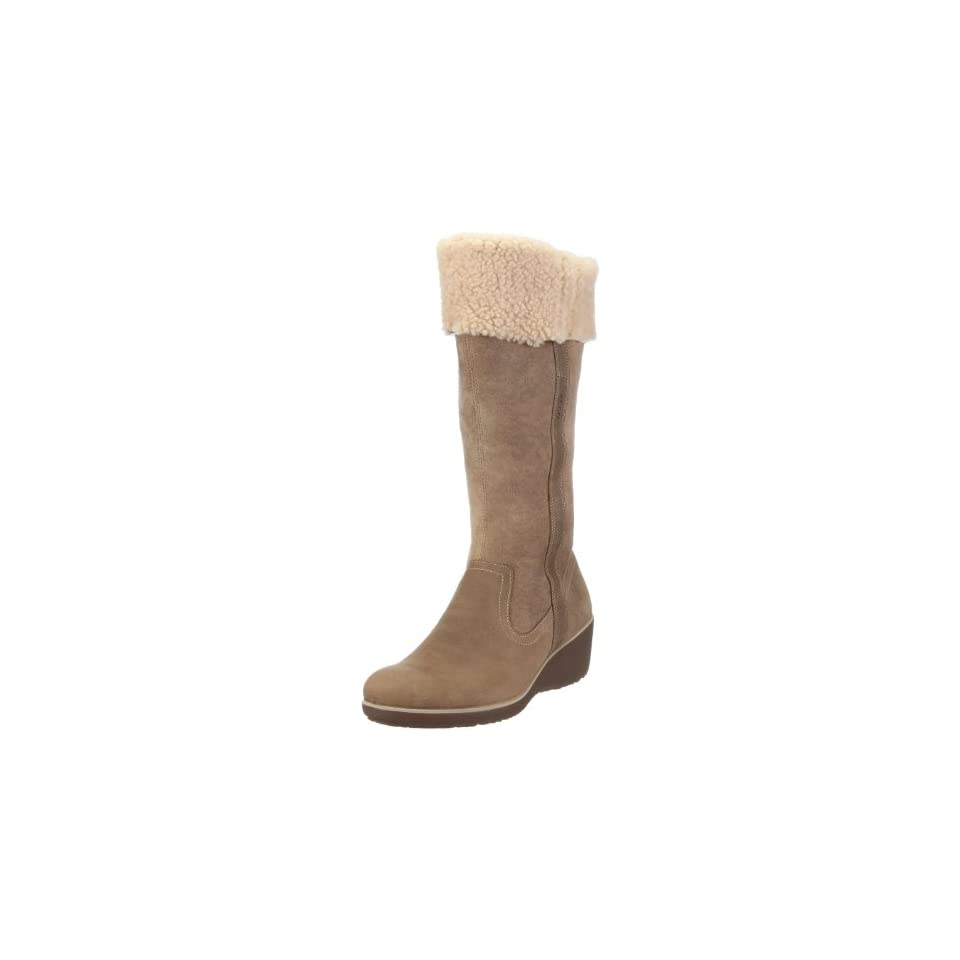 ad21239f192 ECCO Womens Shiver Wedge Shearling Tall Boot