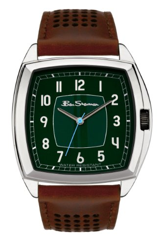 Ben Sherman R737 Gents Analogue Black Dial Brown Leather Strap Watch