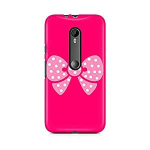 Motivatebox - Moto X Style Back Cover - Pink bow Polycarbonate 3D Hard case protective back cover. Premium Quality designer Printed 3D Matte finish hard case back cover.