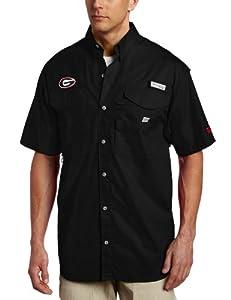 NCAA Columbia Georgia Bulldogs Red Bonehead Short Sleeve Shirt by Columbia