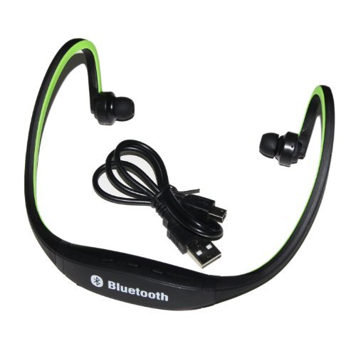 Iwoo Sports Wireless Bluetooth Headphone Earphone Hifi Stereo Stero Headset For Pc Mp3 Mp4 Ipod Mobile(Green)