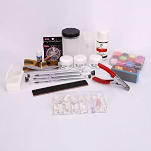 Amazon.com : Full Acrylic Liquid French Nail Art Tip Kit Set