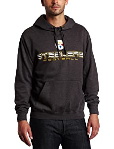 NFL Men's Pittsburgh Steelers 1st and Goal IV Long Sleeve Hooded Fleece Pullover by Majestic
