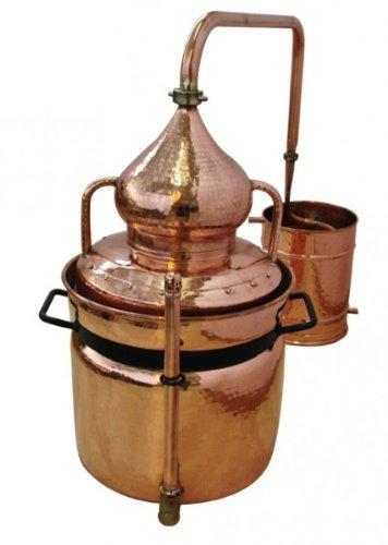 Alambic à bain-marie 30 litres 'CopperGarden®' avec thermomètre 'Al-Ambik®'