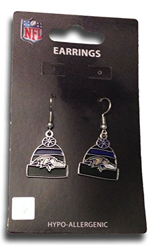 NFL-Licensed-Beanie-Knit-Hat-Dangle-Earrings