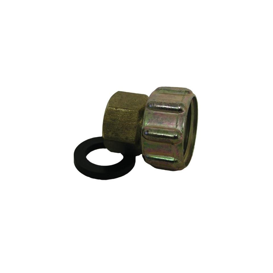 Watts A 661 Brass Garden Hose Adapter, 3/4 Inch x 3/4 Inch
