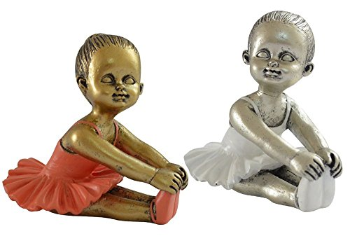 Giftgarden Angel Ballet Figurines - Little Dancer Of Fourteen Years Ballerina Statue -1set(2pcs)