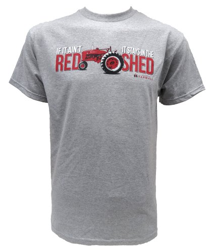 If It Ain`T Red, It Stays In The Shed` On Athletic Heather S/S Tee Shirt