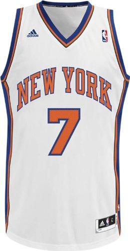 NBA Men's New York Knicks Carmelo Anthony Revolution 30 Home Swingman Jersey (White, X-Large)