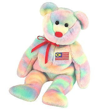 TY Beanie Baby - WIRABEAR the Bear (Malaysia Exclusive) - 1