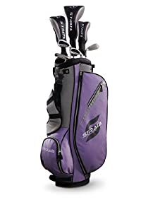 Strata Women's Complete Golf Set with Bag, 11-Piece (Right Hand, Purple, Driver, Fairway, Hybrid, Irons, Putter)