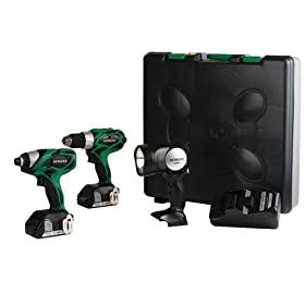 Hitachi KC18DHL 18-Volt Lithium-Ion 2-Tool Combo Kit