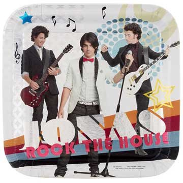 Jonas Brothers Lunch Plates 8ct