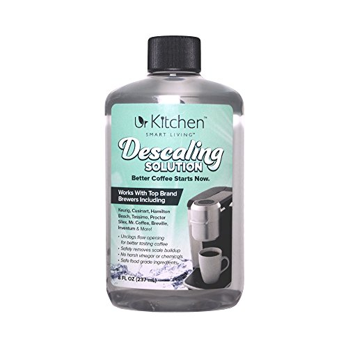 [BEST QUALITY] 2 Pack urKitchen Descaling Solution - Coffee Machine Descaler For Keurig Cusinart Hamilton Beach Tassimo Breville Mr. Coffee & More - Also Great Descaler For Espresso Machine 100% SAFE