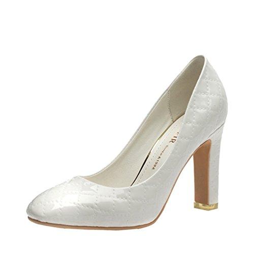 perfectaz-women-fashion-graceful-rhombus-pattern-pu-slip-on-high-heel-dress-pump-shoes75-bm-us-white
