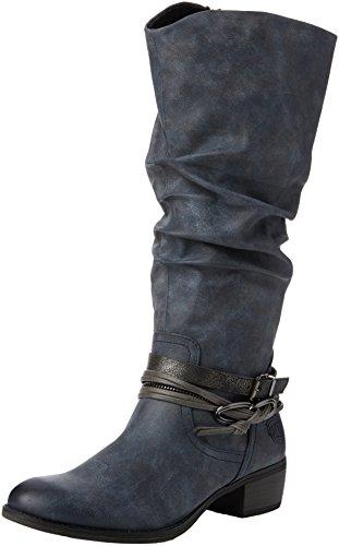 Marco Tozzi 25531, Stivali alti con imbottitura leggera Donna, Blu (Navy Antic Com 820), 38 EU
