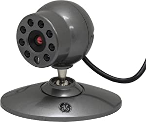 GE 45231 Deluxe MicroCam Wired Color Security Video Camera with Night Vision, Black