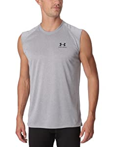 Under Armour New EU SVLS Tech T-Shirt sans manches homme True Grey Heather S