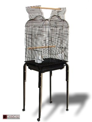 Cheap Torenzo Large Open Top Bird Cage With Table Stand (P201P)