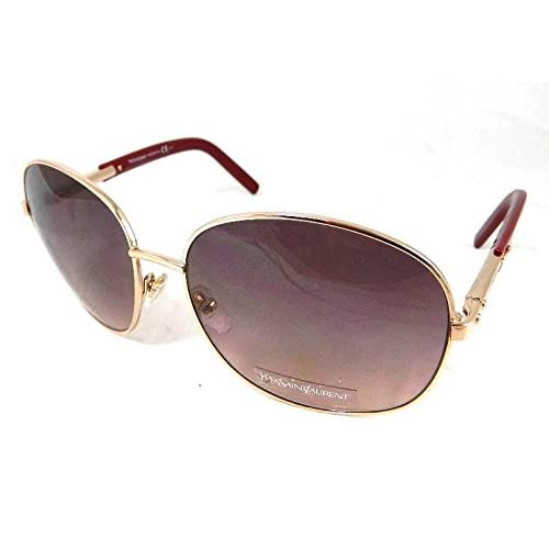 YVES SAINT LAURENT Designer Sunglasses YSL 6284S I3C3X Red Gold Made In Italy