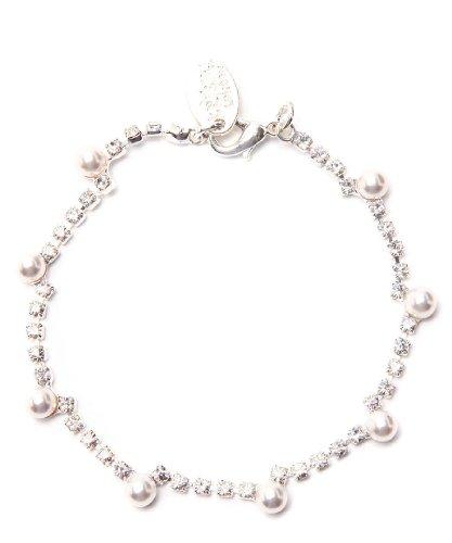 Swarovski Crystal Gemma Bracelet in Silver - Swarovski Crystal Bracelet in Silver with Pearl Detailing