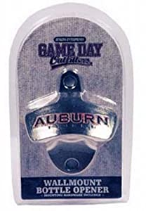 Buy NCAA Auburn Tigers Bottle Opener Metal Retro Wall Mount, Small, Metallic with Team Color by Game Day Outfitters